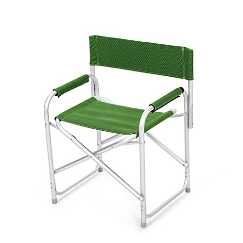 ZXL Folding Chair Aluminum Alloy Portable Outdoor Camping Beach Fishing Painting Chair (Color : Green)