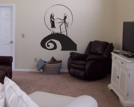 Awesome Nightmare Before Christmas Jack And Sally Vinyl Wall Decal Decor Design Ideas