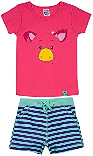 Conjunto Pijama Curto Animais, TipTop, Criança Unissex