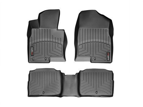 2011-2015 Kia Optima-Weathertech Floor Liners-Full Set (Includes 1st and 2nd Row)-Fits Vehicles with Rear Retention-Black
