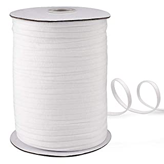 145 Yard 1/4 Inch Wide White Elastic String Cord Bands Rope for Sewing Crafts DIY Mask (1/4 Inch 145 Yards)