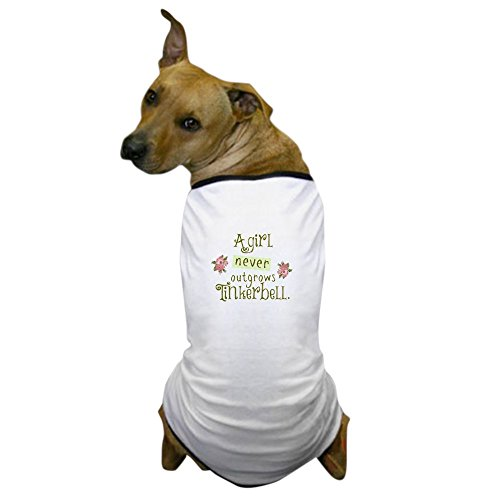 CafePress A Girl Never Outgrows Tinkerbell Dog T Shirt Dog T-Shirt, Pet Clothing, Funny Dog Costume -