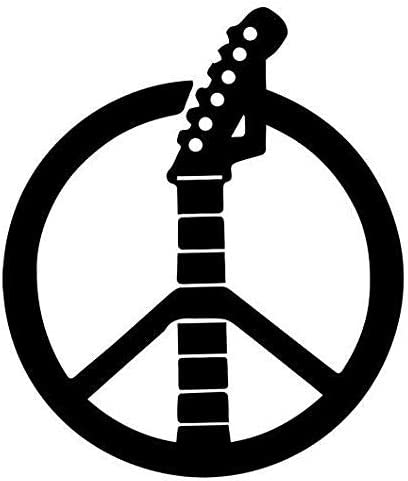 Peace Love Rock  Sign Language Vinyl Decal Sticker Car Window Wall Laptop Hippie