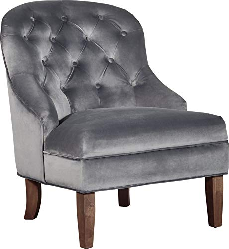 Adore Decor UPH10034B Vera Accent Chair, Blue Gray (Accent Chairs Affordable)
