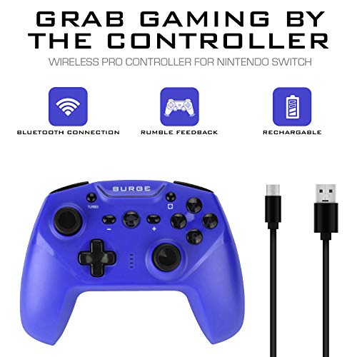 Surge Switchpad Pro Wireless Controller for Nintendo Switch - Blue - Nintendo Switch