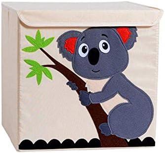 WFFF niños de Juguete Caja de almacenaje Plegable Cubo Cuba de ...
