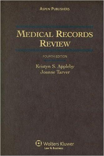 Medical Records Review: 9780735561182: Medicine & Health