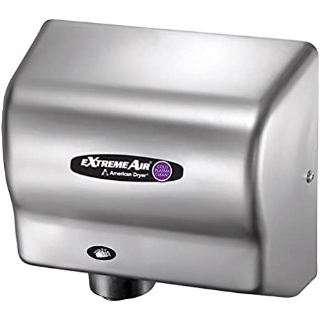 American Dryer ExtremeAir High Speed Hand Dryer W Germ Killing Technology CPC9 SS Stainless Steel