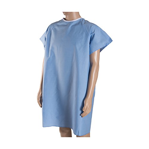 DMI Patient Unisex Hospital Gowns with Back Tie, Blue, 12-Count by MABIS DMI Healthcare