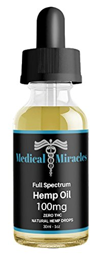 Hemp Oil - 100Mg - Full Spectrum USA Grown Oil for Anxiety, Pain Relief and More! Mint Flavor. Rich in Omega 3,6 Fatty Acids by Medical Miracles