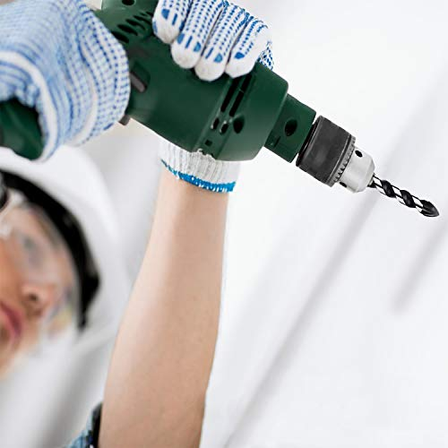 Masonry Drill Bits, ZINMOND 10 Piece Tile Drill Bits Set,Glass Drill and Concrete Drill Bit, Tungsten Carbide Material Drill Bit for WALL, BRICK, MARBLE, PLASTIC, WOOD, MIRRORS, CINDER BLOCK,etc.