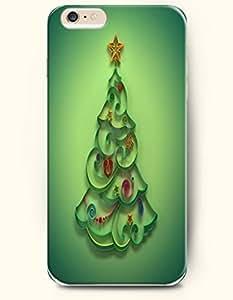 OOFIT Apple iPhone 6 case 4.7 inches - Merry Xmas A Green Chrsitmas Tree Doodle wangjiang maoyi