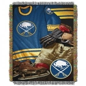 (The Northwest Company Officially Licensed NHL Buffalo Sabres Vintage Woven Tapestry Throw Blanket, 48