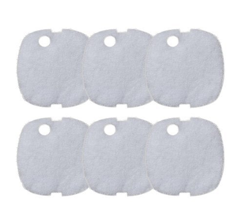 Replacement White Sponge Filter Pad for Sunsun Super Grech Perfect HW-302, 6-pack