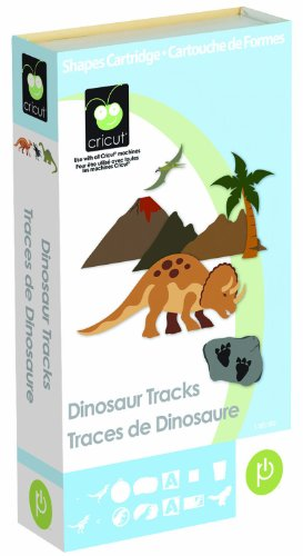 Cricut Cartridge, Dinosaur Tracks (Cricut Provo Craft Inks)
