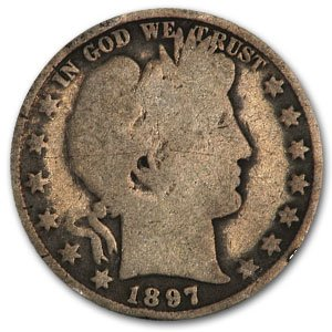1897 Barber Half Dollar AG Half Dollar About Good