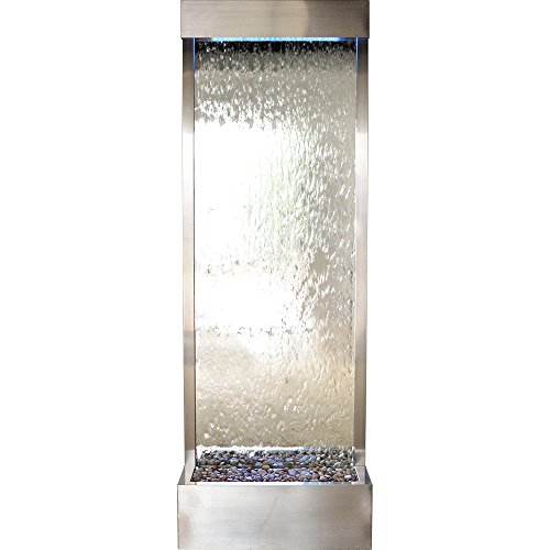 (BluWorld Towering 8' Stainless Steel Gardenfall with Silver Mirror)