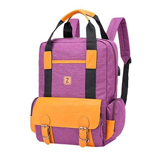 Couple Fashion Bag Large Capacity Computer Bag Student Backpack Shoulder Bag School Bag for Girls Kids Boys Women Men