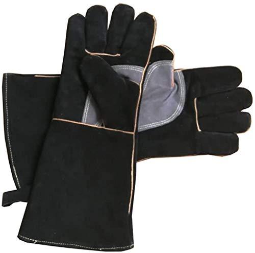 cucina perfetti per griglia guanti in cotone e pelle a maniche lunghe forno resistenti al calore camino Guanti da lavoro di sicurezza barbecue