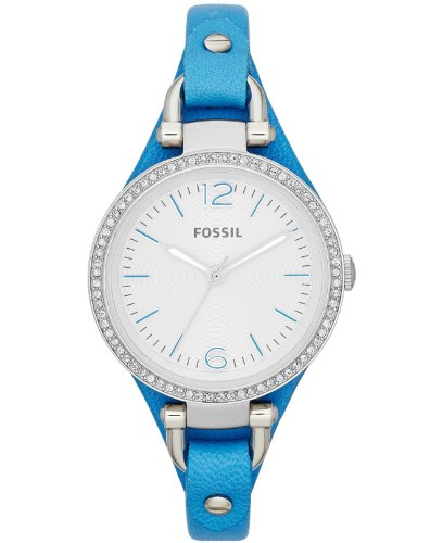 Fossil-Georgia-Silver-Dial-Blue-Leather-Strap-Ladies-Watch-ES3470