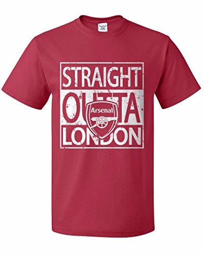 "Tcamp ""Straight Outta London"" Arsenal Soccer Fans Men T-shirt"