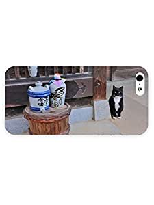 3d Full Wrap Case For Ipod Touch 5 Cover Animal Bored Cat45
