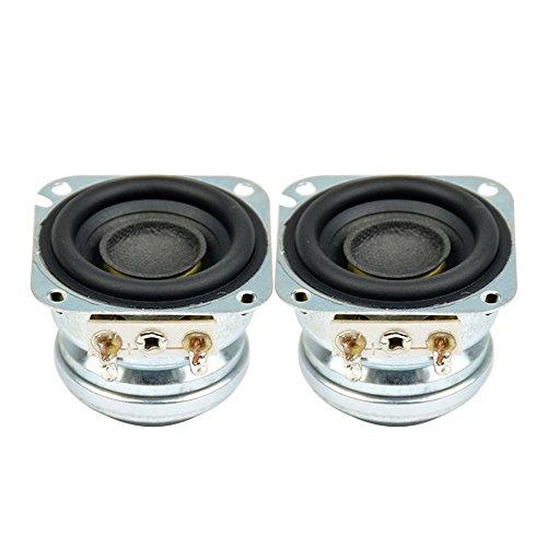 AIYIMA 2Pcs 1.5Inch Audio Portable Speakers 4Ohm 5W 10 W Full Range Neodymium Magnetic Bass Speaker Stereo Diy Home ()