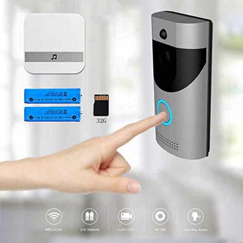 Lljin Wireless Visual Voice Intercom WiFi Mobile Phone Remote Electronic SmartDoorbell