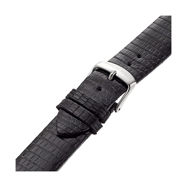 Philip Stein 1-ZB 18mm Leather Lizard Black Watch Strap
