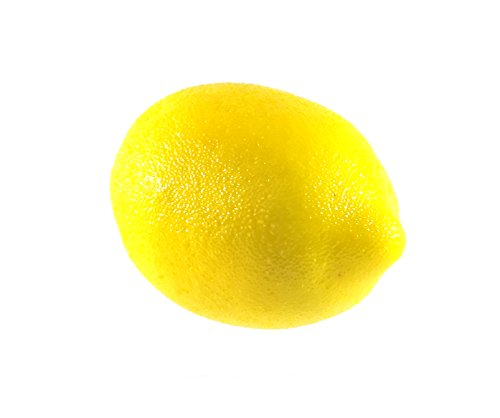 6pc Artificial Lemon Lemons - Plastic Citrus Fruit - Six Pieces by Viabella (Image #1)