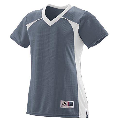 (Augusta Sportswear Women's Victor Replica Jersey L Graphite/White)