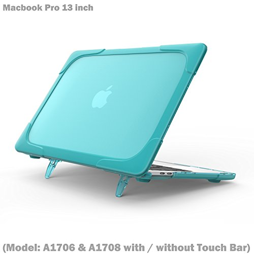 Macbook Pro 13 inch with / without Touch Bar Case, Wtiaw [Heavy Duty] Slim Rubberized [Dual Layer] Hard Case Cover with breathe and cool itself freely TPU Bumper Cover (Model: - Models Spectacles