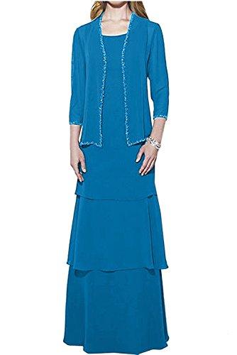 Blau mia Langarm Jaket Damen Braut Langes Brautmutterkleider La mit Ballkleider Braun Abendkleider Dunkel Herrlich 1RBqSwST