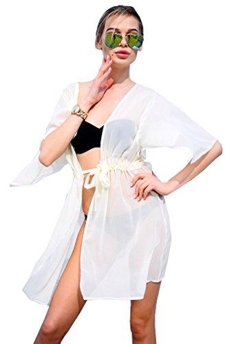 Yonala Drawstring Swimwear Swimsuit Cardigan product image