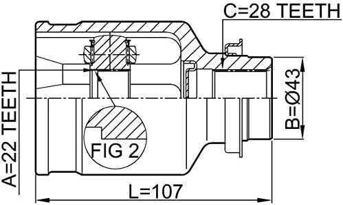 Right Inner CV Joint 22X43X28 For Hyundai//Kia 0K2Nc22520