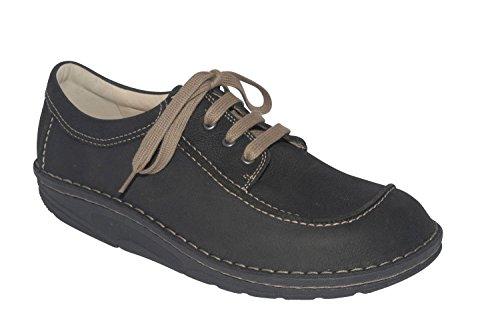 Comfort À Noir schwarz Ville Chaussures rodeobuk Pour Schwarz Finn Homme Lacets De fxq4AAFwg