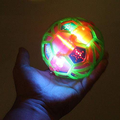 Gbell Interesting Flash Music Light-Up Bouncing Ball, Kids Creative Puzzle Electric Bouncing Toy for Baby Toddler Boys Girls Over 1 Year Old,Random Color (Random)
