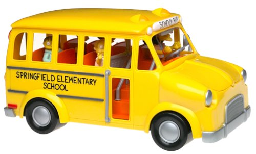 The Simpsons Exclusive Playset Talking Elementary School Bus by Playmates/The Simpsons - Exclusive Playmates Playset