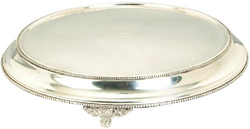 Deco 79 Stainless Steel Cake Stand, 15-Inch
