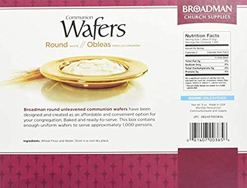 Broadman Church Communion White Wafers - Cross Design (1 - 1/8'') - Box of 1000 (10 Individual Packs of 100 Lord's Supper Wafers) by B & H Publishing Group (Image #2)