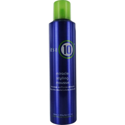 ITS A 10 by It's a 10 MIRACLE STYLING MOUSSE 9 OZ for UNISEX ---(Package Of 5) (Miracle Mousse Styling Its A 10)