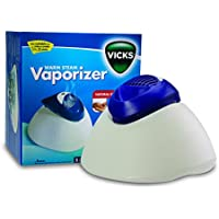 Vicks Warm Steam Vaporizer | Natural Steam Therapy, Relieves Cold & Flu Symptoms, Automatic Shut off, Easy to Clean, Nightlight