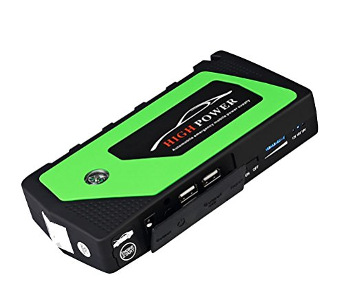 QINUO 600A Peak 18000mAh 12V Portable Car Jump Starter With Smart Jumper Cables (Up to 5.0L Gas Engines) Auto Battery Booster Power Pack Phone Power Bank With Smart Charging Ports by QINUO