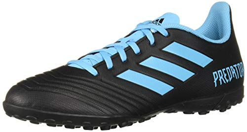 adidas Men's Predator 19.4 Turf Soccer Shoe Black/Bright Cyan/Solar Yellow 8.5 M US (The Best Soccer Shoes Ever)