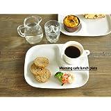 【M'home style】白い食器 カフェモーニングランチプレート ホワイトレベル2