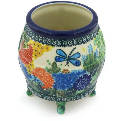 Polish Pottery Vase 6-inch Garden Delight UNIKAT Polish Pottery Vase