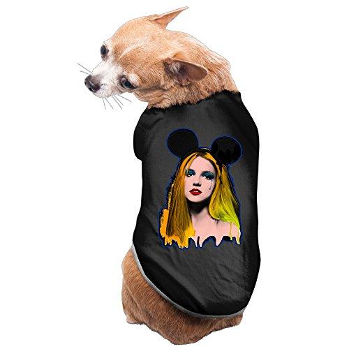 Dog Costume Britney Spears Pop Singer Sleeveless PuppyCostumes Pet Supplies