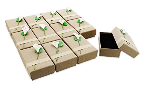 12-Piece Gift Box Set - Lily Jewelry Box for Anniversaries, Weddings, Birthdays - 3.5 x 1 x 2.2 Inches ()