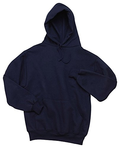 Jerzees Adult Super Blend Hooded Pullover Sweatshirt, J Nvy, Medium