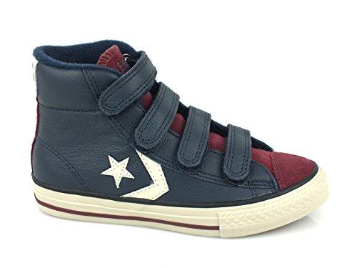 Converse Star Player Ev Mid V4 Lea/Sued - Zapatillas abotinadas Unisex Niños Dress Blues